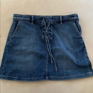 Vince Camuto A-Line Denim Skirt